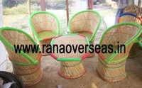 Designer Bamboo Munda Chair With Table Set