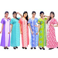 100% Cotton Night Gowns For Womens