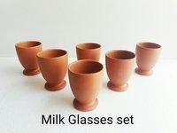 Clay Milk Glass