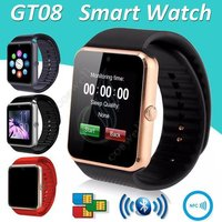 Gt08 Bluetooth Smart Watch Phone +Camera Sim Slot For Android
