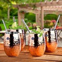 Set of 4 Handmade Insulated Copper Cocktail Mug