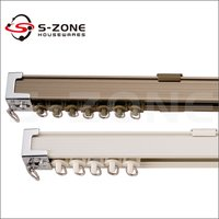 Anodized Aluminium Curtain Hooks With Rollers