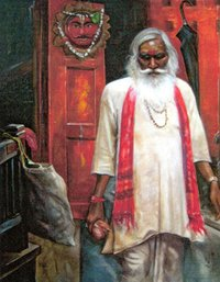 SADHU PAINTING ON CANVAS