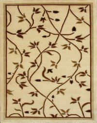 Beige Embroidered Carpets in Bhadohi