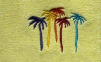 Dyed Embroidered Terry Towel