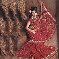 Embroidered Zari Saree