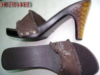 High Heel Sandals With Snake Skin Ornaments