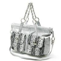 PU Handbags with Gold Metal