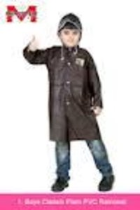 Boys Classic Plain PVC Raincoat