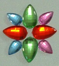 Without Hole Pear Shape Acrylic Bead