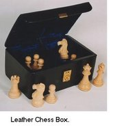 Leather Chess Box