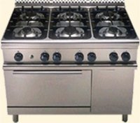 4 Burner Gas Range On Oven