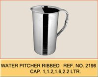 Water Pitcher Ribbed