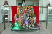 Desktop Fountain For Five Chinese Dragon