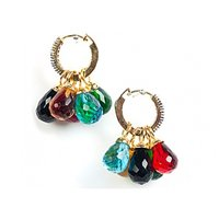 Interchangeable Colorful Drop Shaped Beads Cubic Zircon Pendents