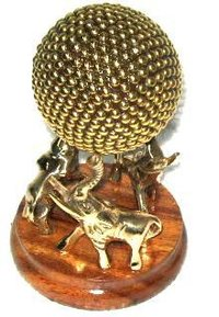 Crafted Elephant Set With Ball