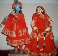 Radha Krishna Madhubani Dolls