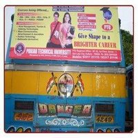 Bus Back Panel Advertisement