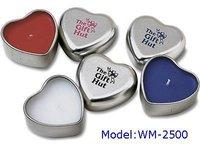 Heart Shape Candle Tin