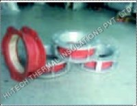 Single Layer Fabric Expansion Joint With Metal Flange