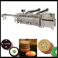 Double Color Sandwiching Machine With Packaging Machine