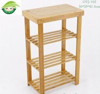 50cm 4-Layer Green And Eco Bamboo Storage Rack