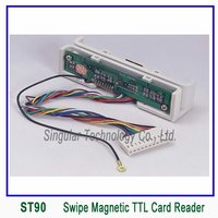 90mm Ttl Interface Manual Swipe Magnetic Card Reader