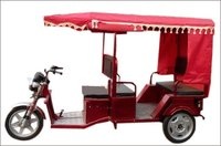 Red Color Battery Operated Rickshaw