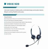Voix-920 Binaural Nc Call Center Headset