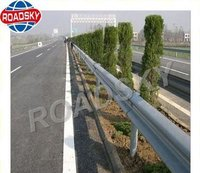 Highway Safety Galvanzied Metal W Beam Guardrail