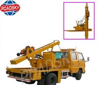Highway Hydraulic Pile Driving Equipment For Guardrails