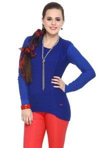 Blue Double Shaded Acrylic Sweater