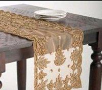Golden Transparent Style Table Runner