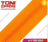 5 Toni Gold Zippers