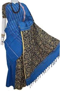 Cotton Khesh Printed Gurjarii Sarees