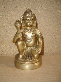 Hanuman Sitting Carved In Meditation