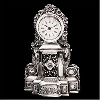 Silver Table Clock