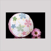 Round Shape Embroidered Pillow