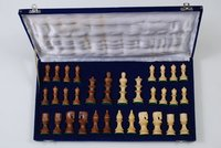 Superb Carved Golden Rosewood Chess Set