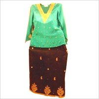 Zari Work Kurti & Skirt