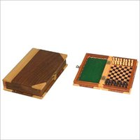 Wooden Pegged Book Shaped Chess Board-Cum-Box