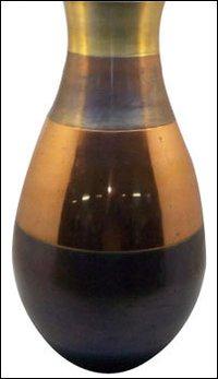 Multicolor Metal Vase
