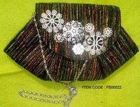 Multi-Color Beaded Clutch Bag