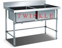 Practical Double Sink Bench (2 Sink) HSD-612