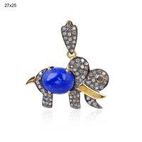 14k Gold Gemstone Pendant Jewelry