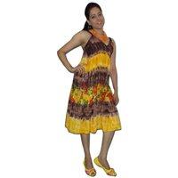 Beach Wear Dress With Tie & Dye