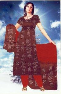 Cotton Bandhni Tie And Dye Dress