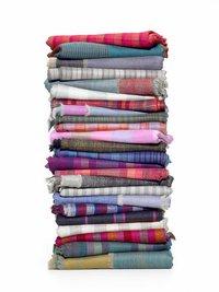 Check And Stripes Pashmina Shawls