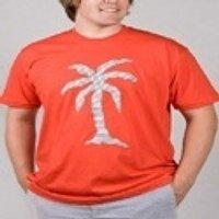 Laser Cut Palm Tree On T-Shirts