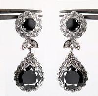 Designer Black Diamond Tear Drop Earring